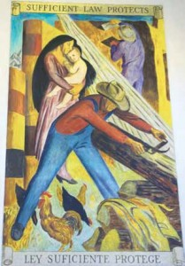 Taos County Courthouse Mural-Ley Suficiente Protege