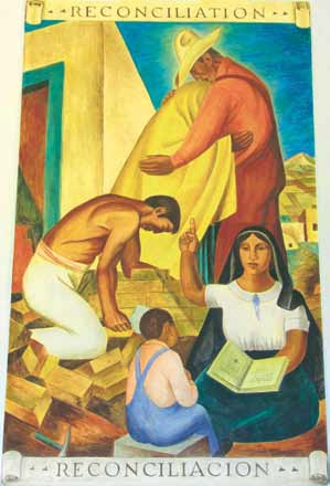 Taos County Courthouse Mural-Reconciliacion